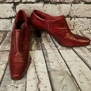 Red Ankle Boots by Sbicca